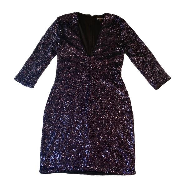 Express Sequins/Purple Dress